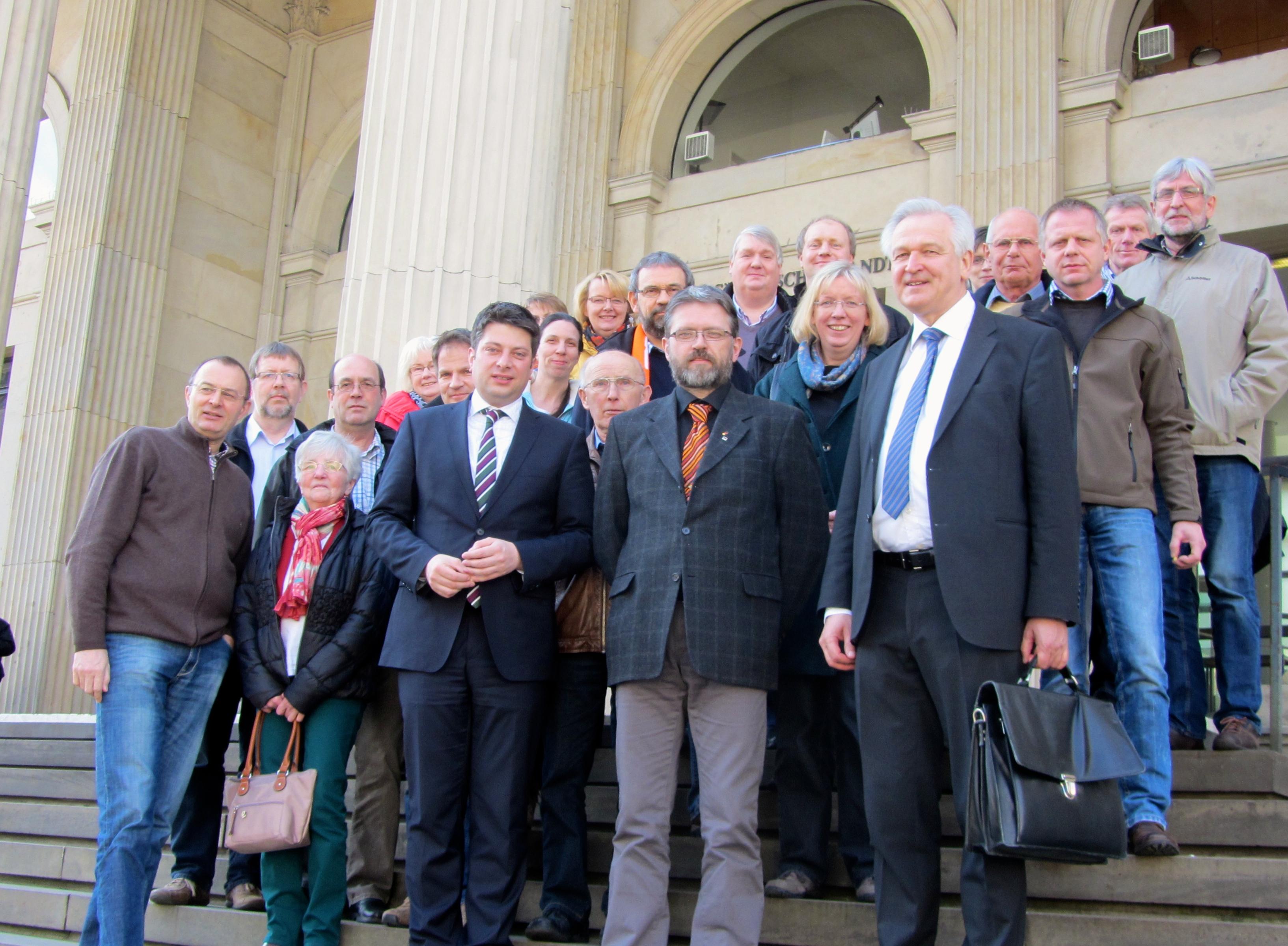 2014: Besuch der Kolpingfamilie St. Marien Quakenbrück.
