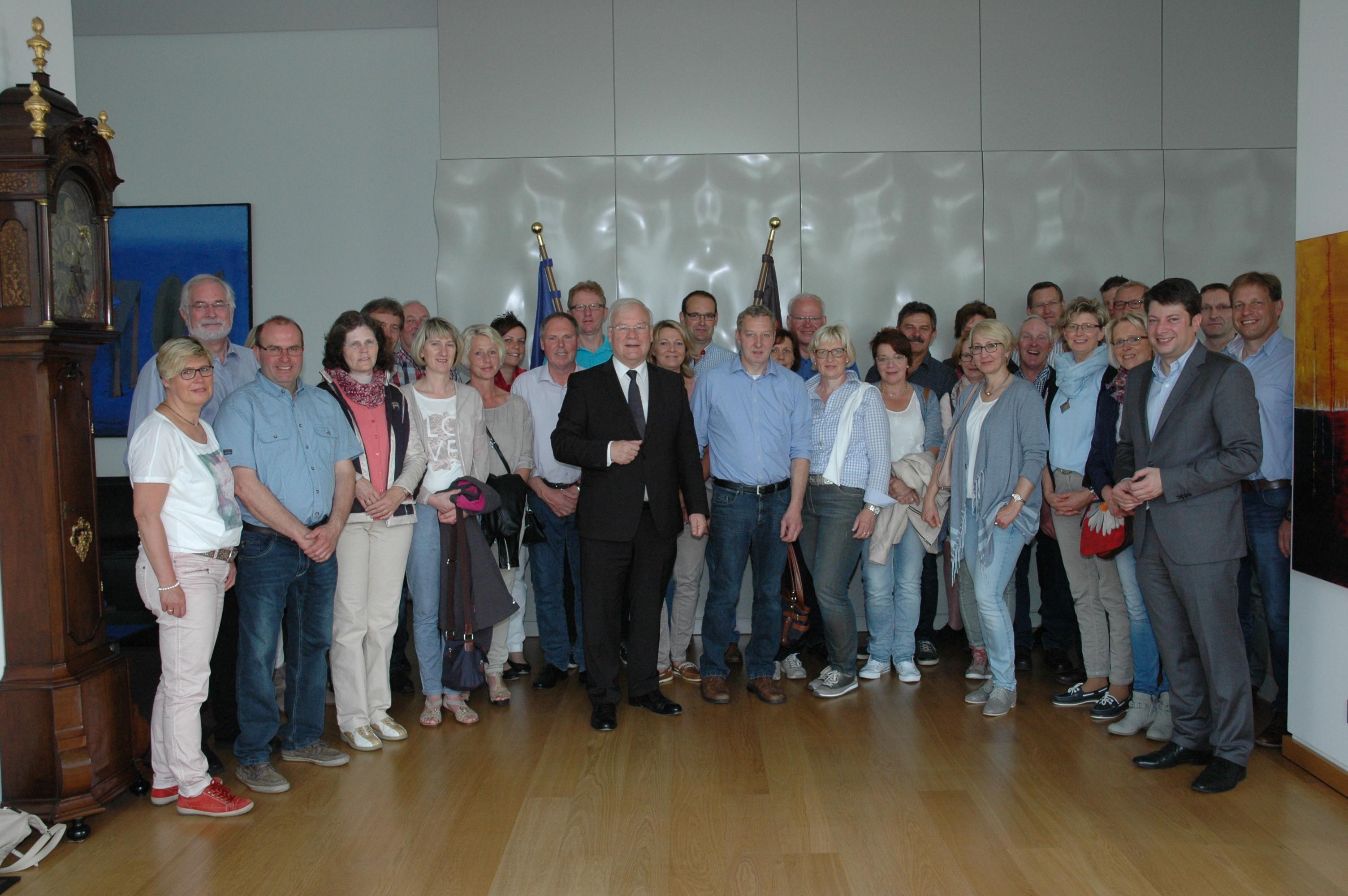 2015: Besuch von Aufsichtsrat und Geschäftsführung der VR-Bank.