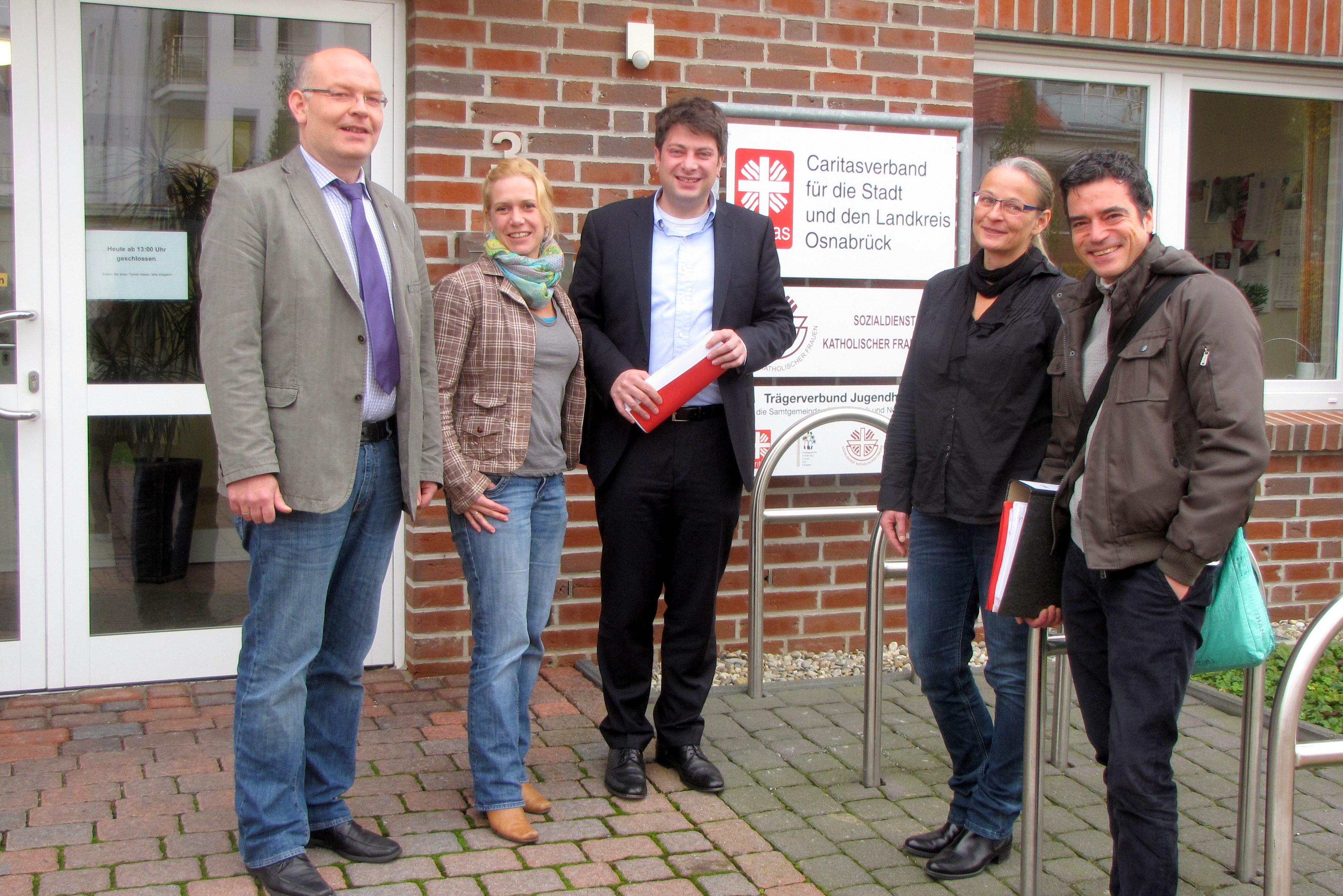 2013: Gespräch mit der Caritas in Bersenbrück.