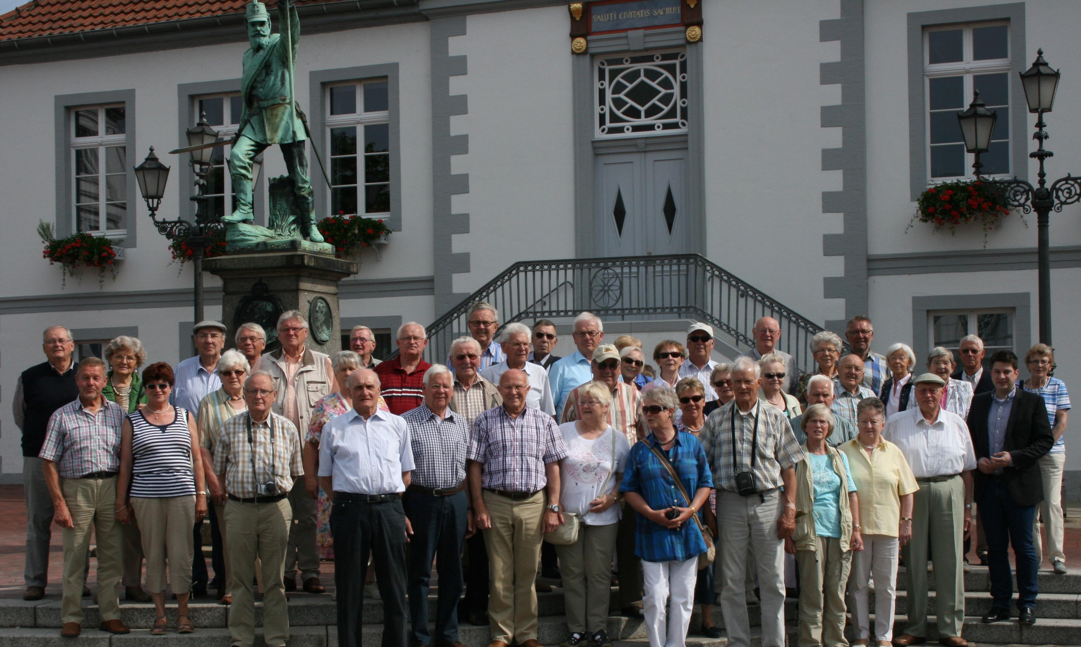 2013: Besuch der Senioren Union Dammer Berge in meiner Heimatstadt Quakenbrück.