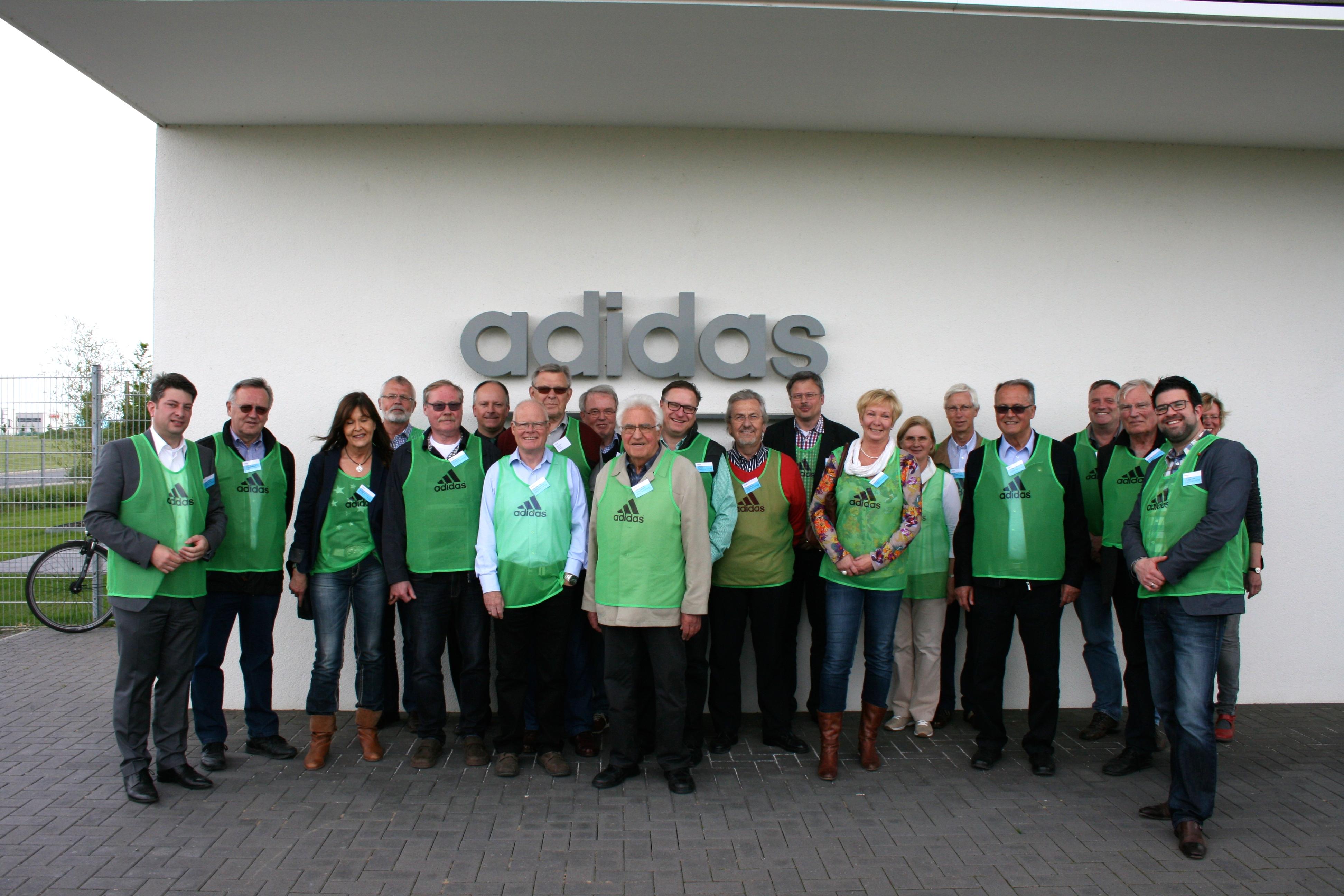 2015: Besichtigung der Fa. adidas im Niedersachsenpark mit der Mittelstandsvereinigung.