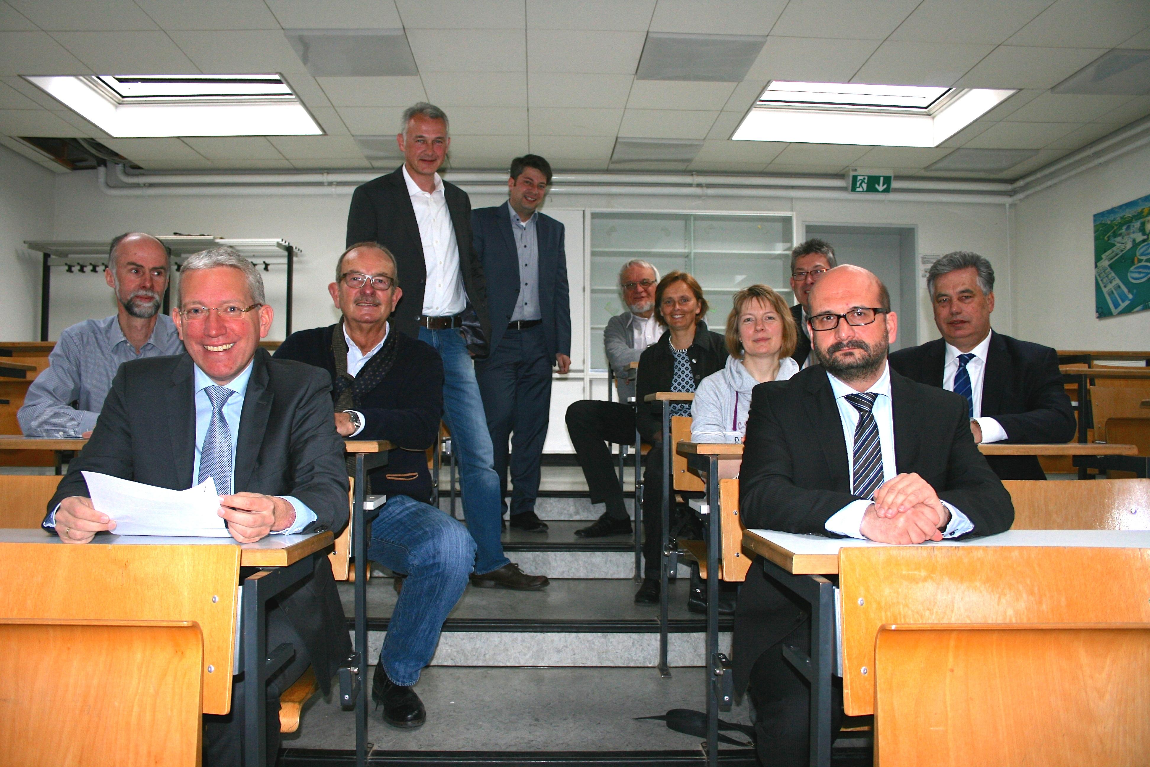 2015: Besuch im Gymnasium Bersenbrück mit der CDU-Kreistagsfraktion.