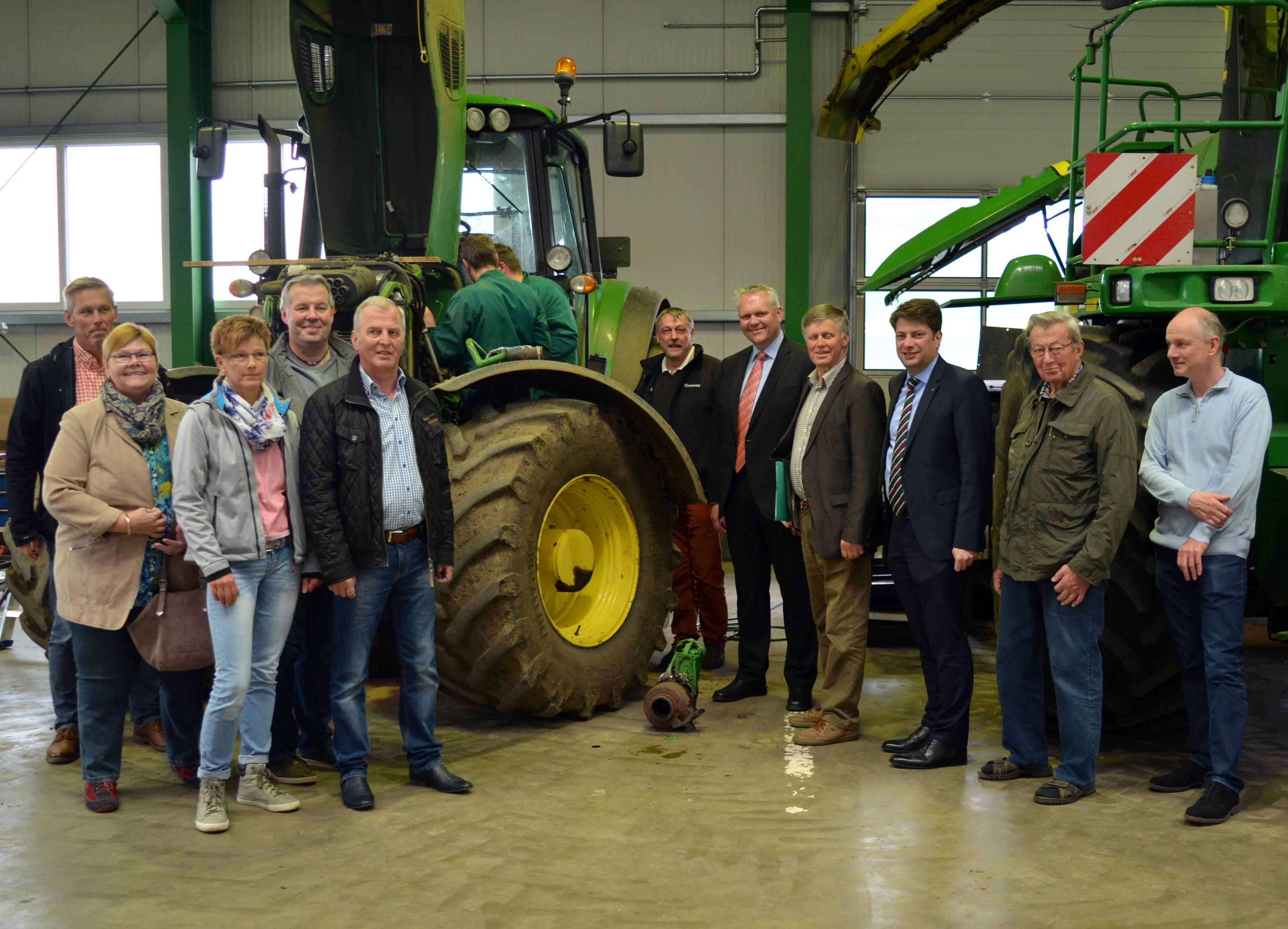 2016: Besuch der Werkstatt der Fa. Krone in Nortrup mit dem Fraktionsvorsitzenden Björn Thümler.