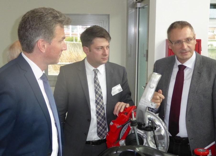 """2016: Besuch bei der Firma """"Boge Elastmetall"""" in Damme."""