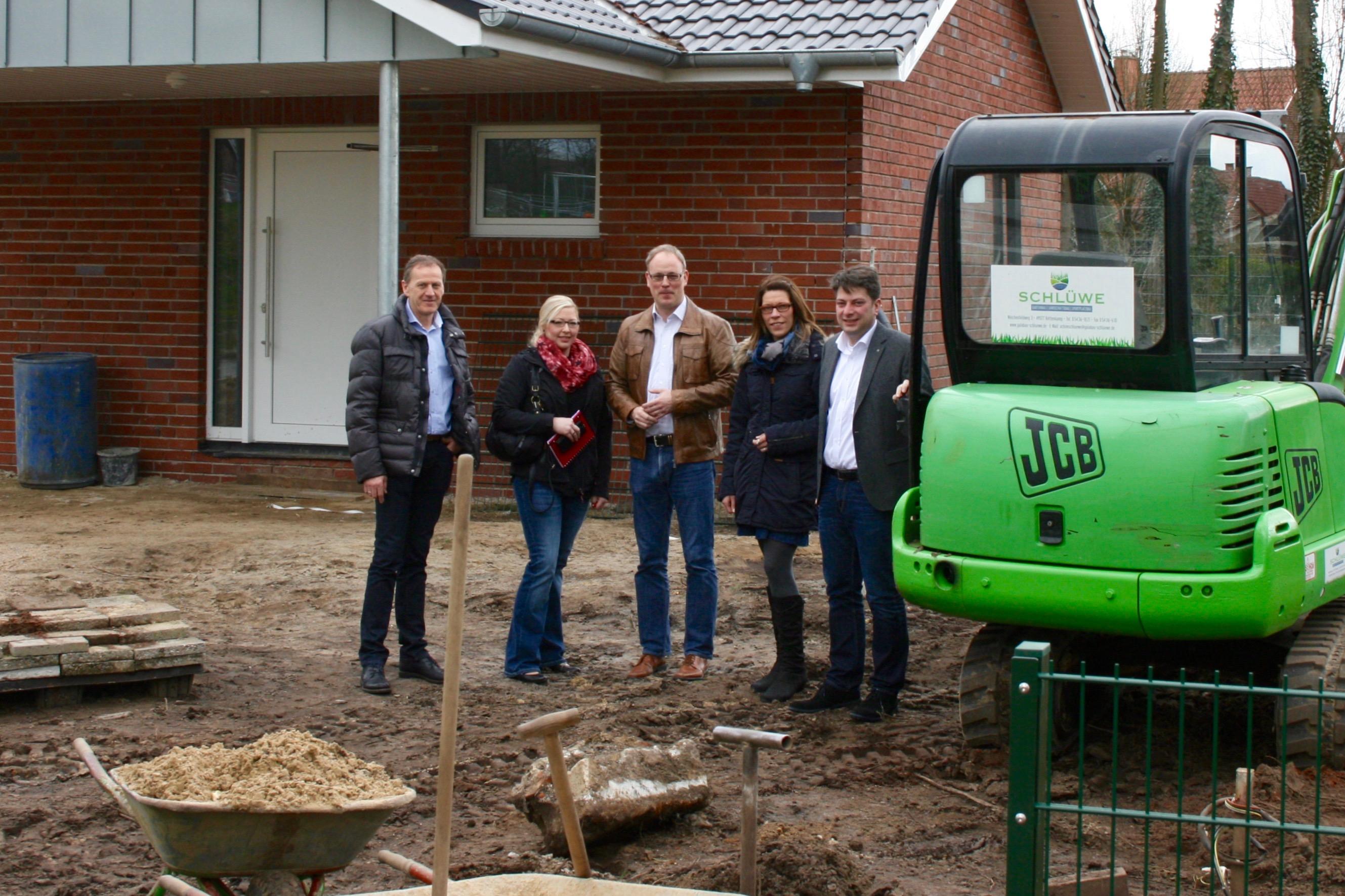 2016: Besuch des im Bau befindlichen Jugendheimes in Eggermühlen.
