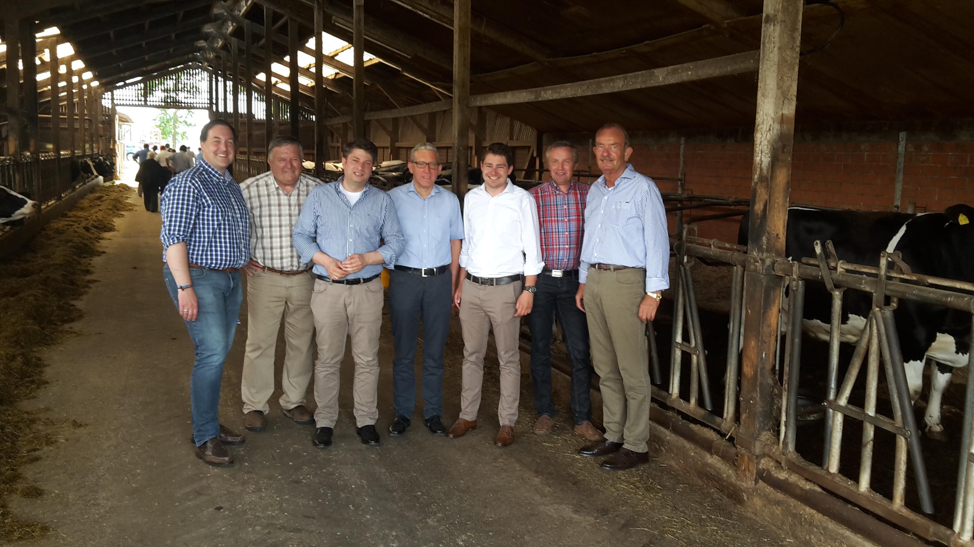 2017: In Grafeld auf dem landwirtschaftlichen Betrieb von Guido Holtheide.