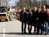2016: Gespräch mit der Bürgerinitiative zum Bau des Radweges in Döthen (Eggermühlen).