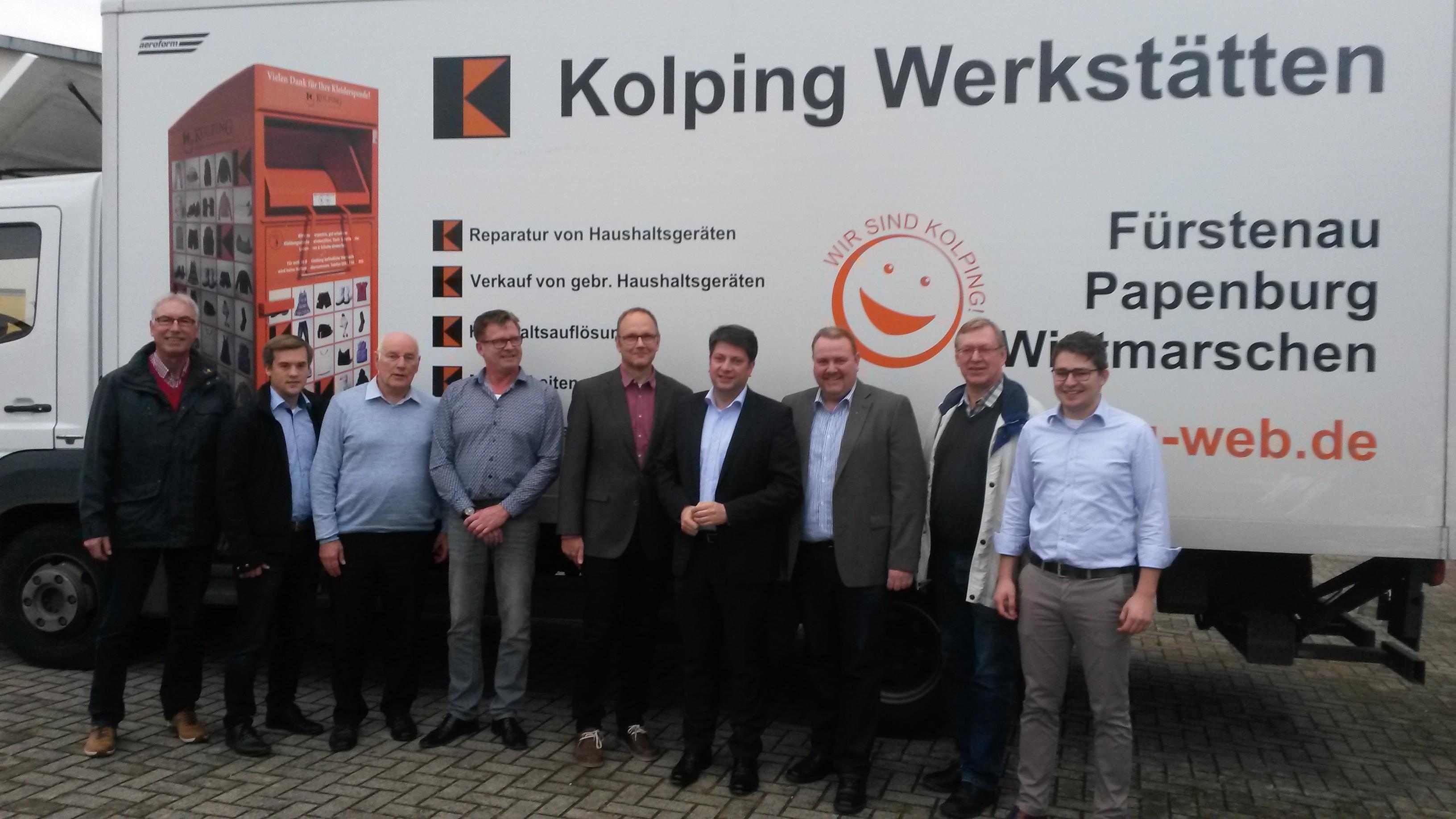 2017: Besuch in der Kolping-Werkstatt Fürstenau! Treu Kolping!