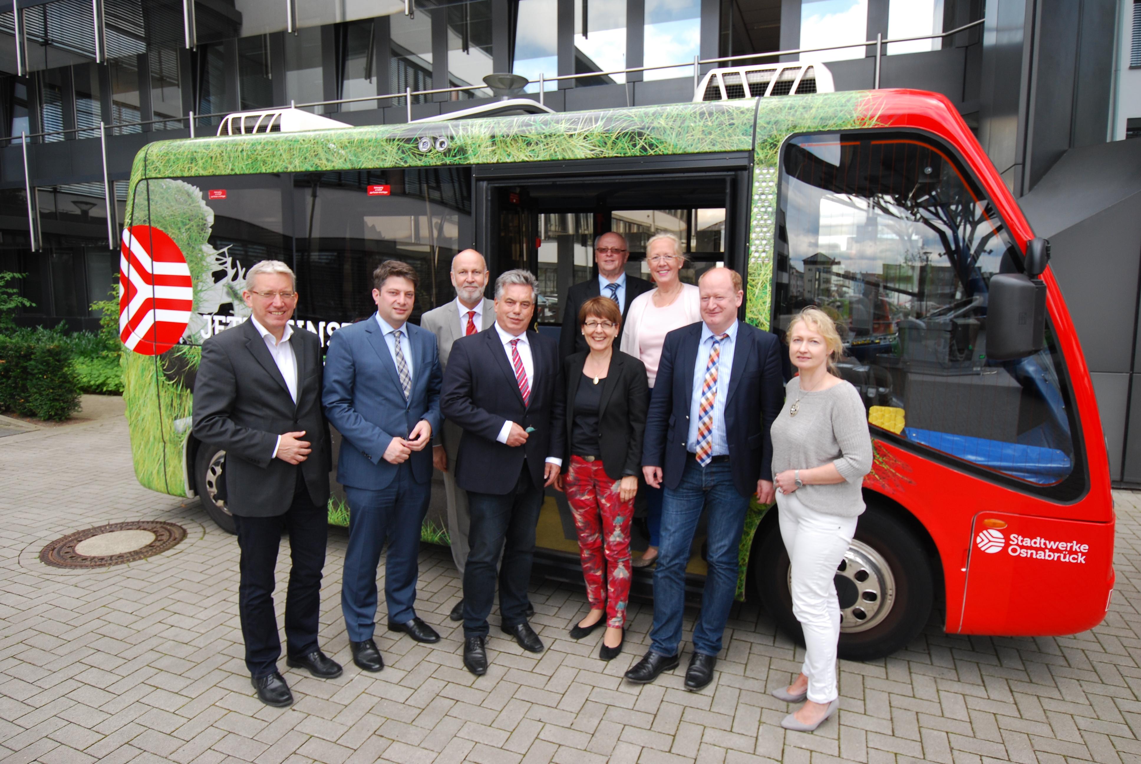 Information über Elektromobilität bei den Stadtwerken Osnabrück im Juli 2015.