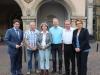 Vorfahrt für Radfahrer: Gespräch am Rande des Plenums mit Staatssekretärin Behrens für eine Unterstützung des Landes zu Gunsten der Bürgerinitiative Radweg Pickerdamm aus Badbergen im Juli 2015.