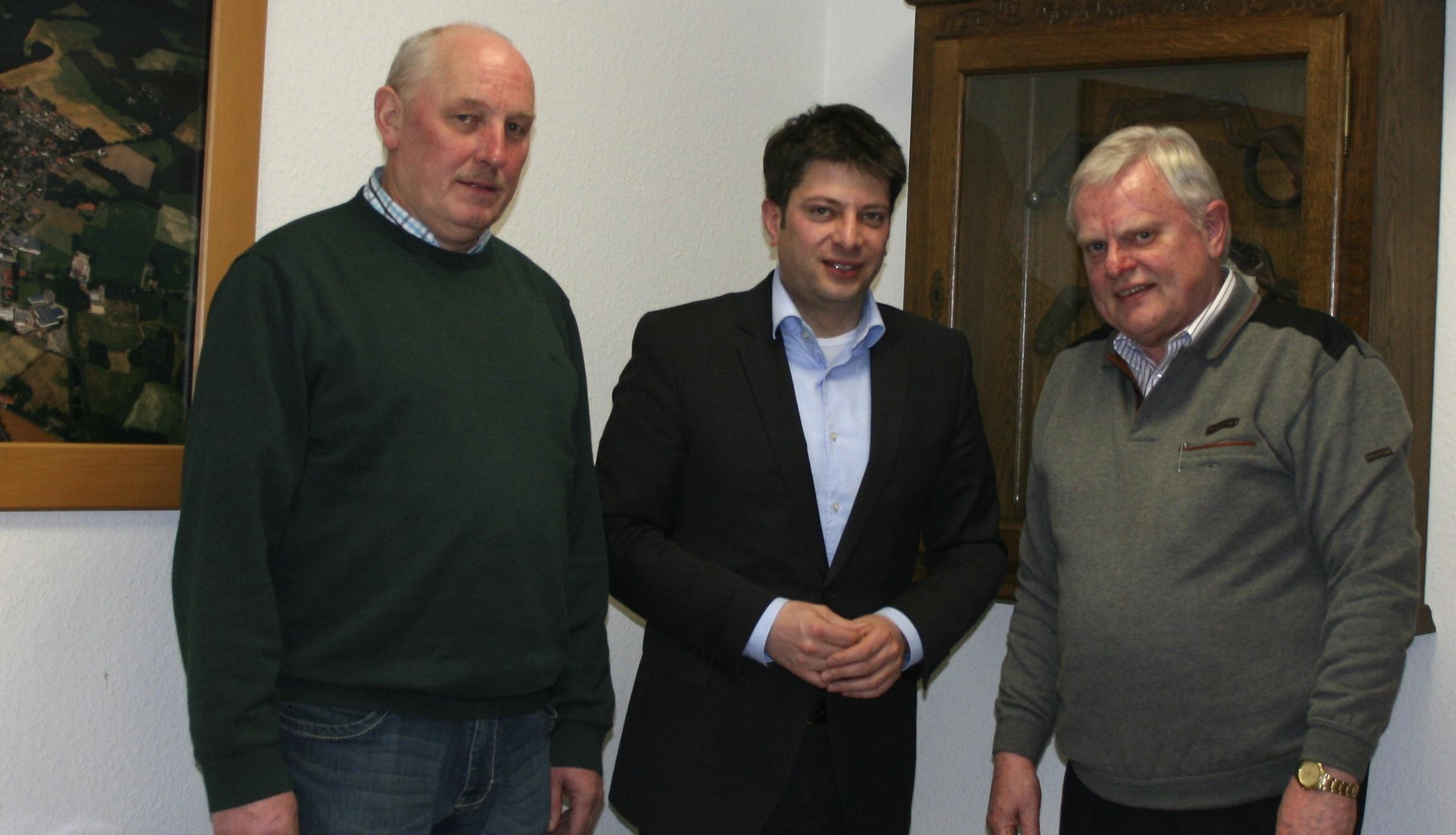 Einen herzlichen Empfang erhielt Christian Calderone auch in der Gemeinde Merzen