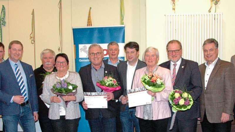 Der CDU-Vorstand mit den Geehrten für 30- und 40-jährige Mitgliedschaft sowie Gästen. Foto: CDU-Gemeindeverband Ostercappeln
