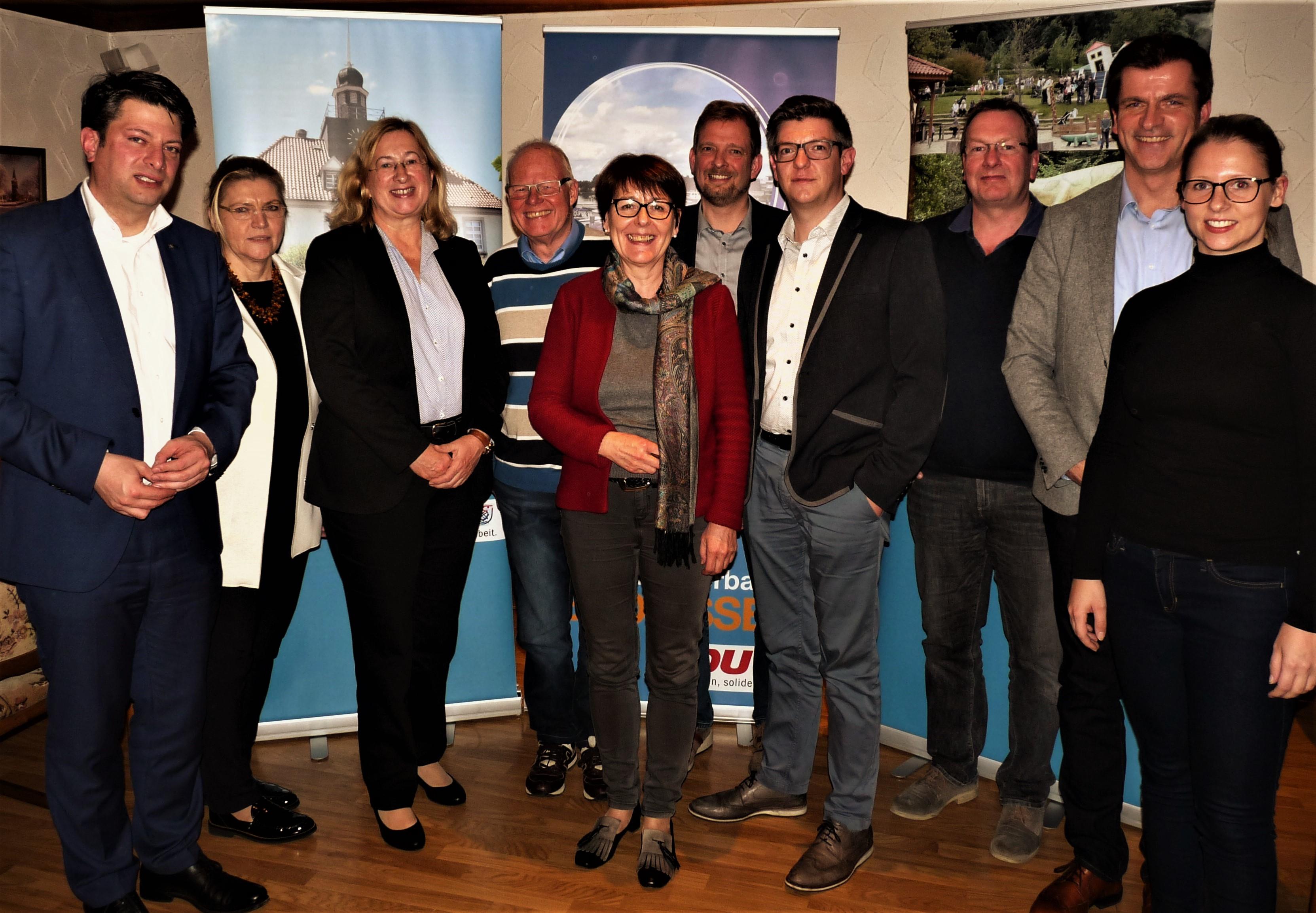 Referenten und Vorstand der CDU - Bad Essen im Rahmen der Mitgliederversammlung 2017.