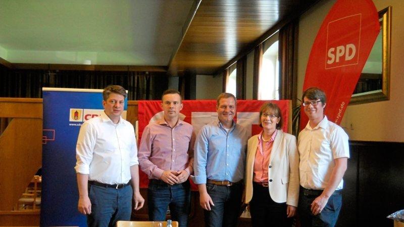 Christian Calderone, Zejko Dragic, Guido Pott, Agnes Droste und Andreas Hettwer (von links).