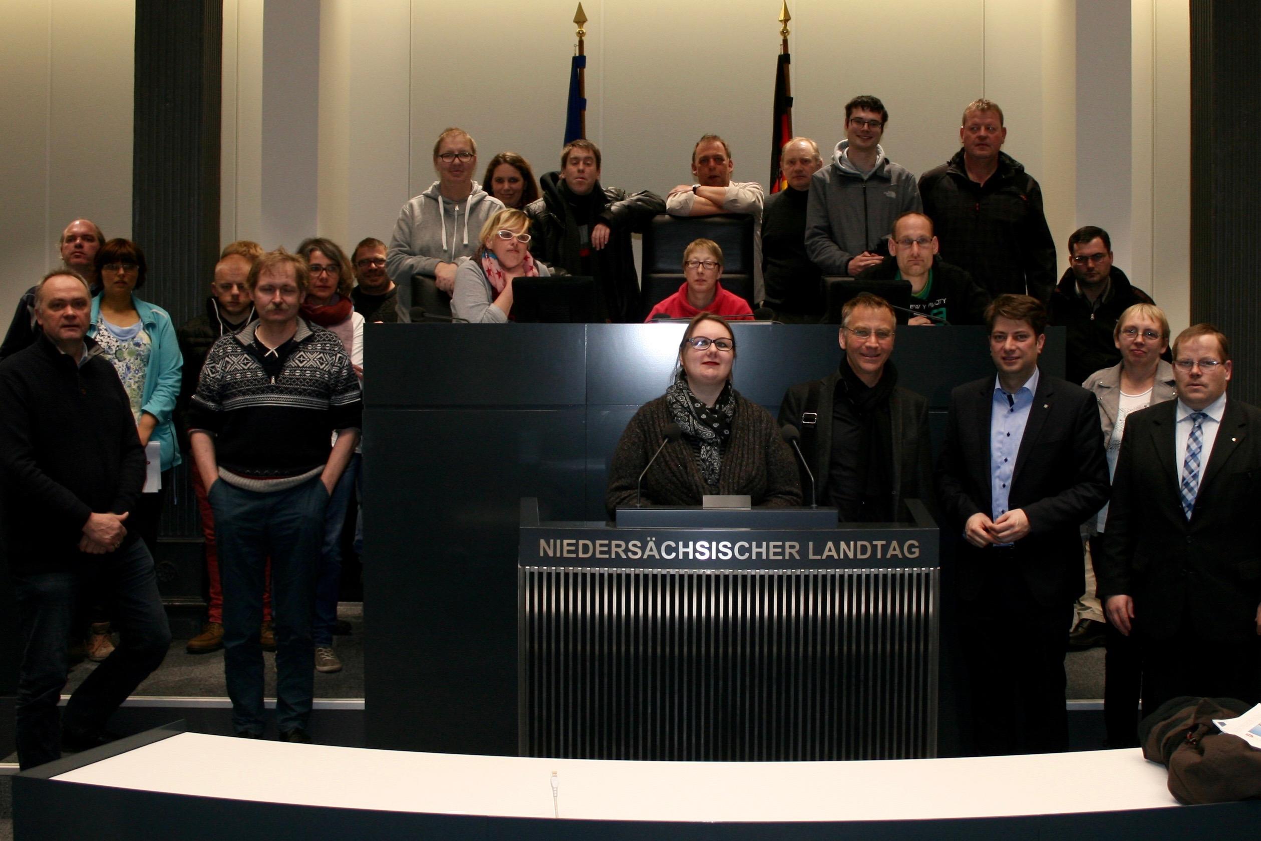 2016: Besuch des Werkstatt-Rates der Heilpädagogischen-Hilfe-Bersenbrück.