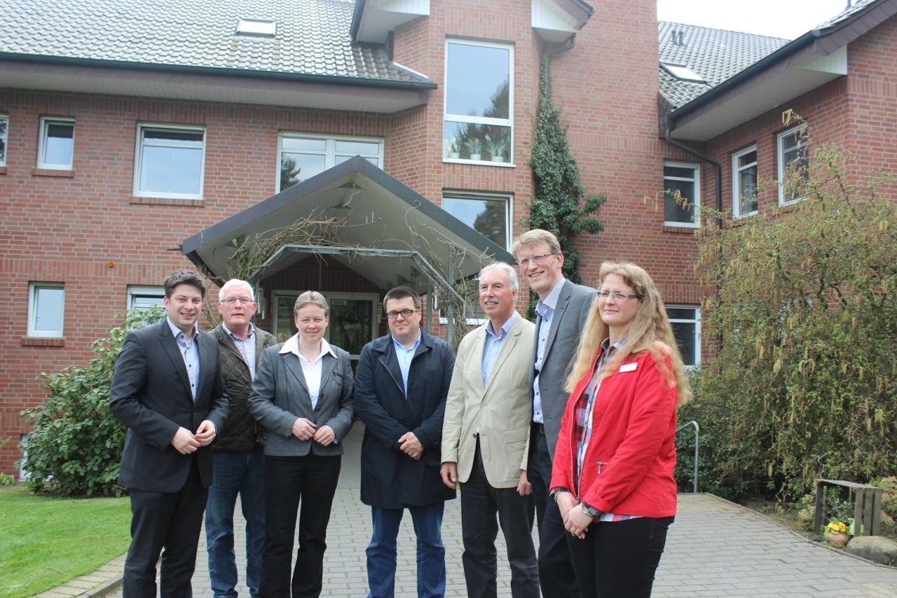2014: Diskussion über die Situation in der Altenpflege im Haus Lambertus Berge.