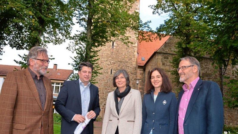 Begleitung von Landessuperintendentin Dr. Klostermeier im Rahmen ihrer Visitation des Kirchenkreises Bramsche 2017. (Foto: Bramscher Nachrichten)