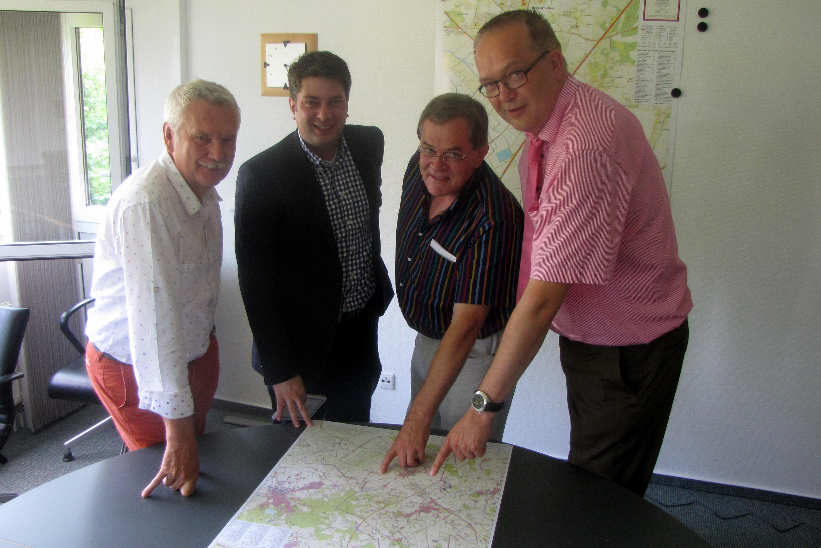 Bürgermeister Ansgar Brockmann 2014 bei meinem Antrittsbesuch in Neuenkirchen-Vörden.