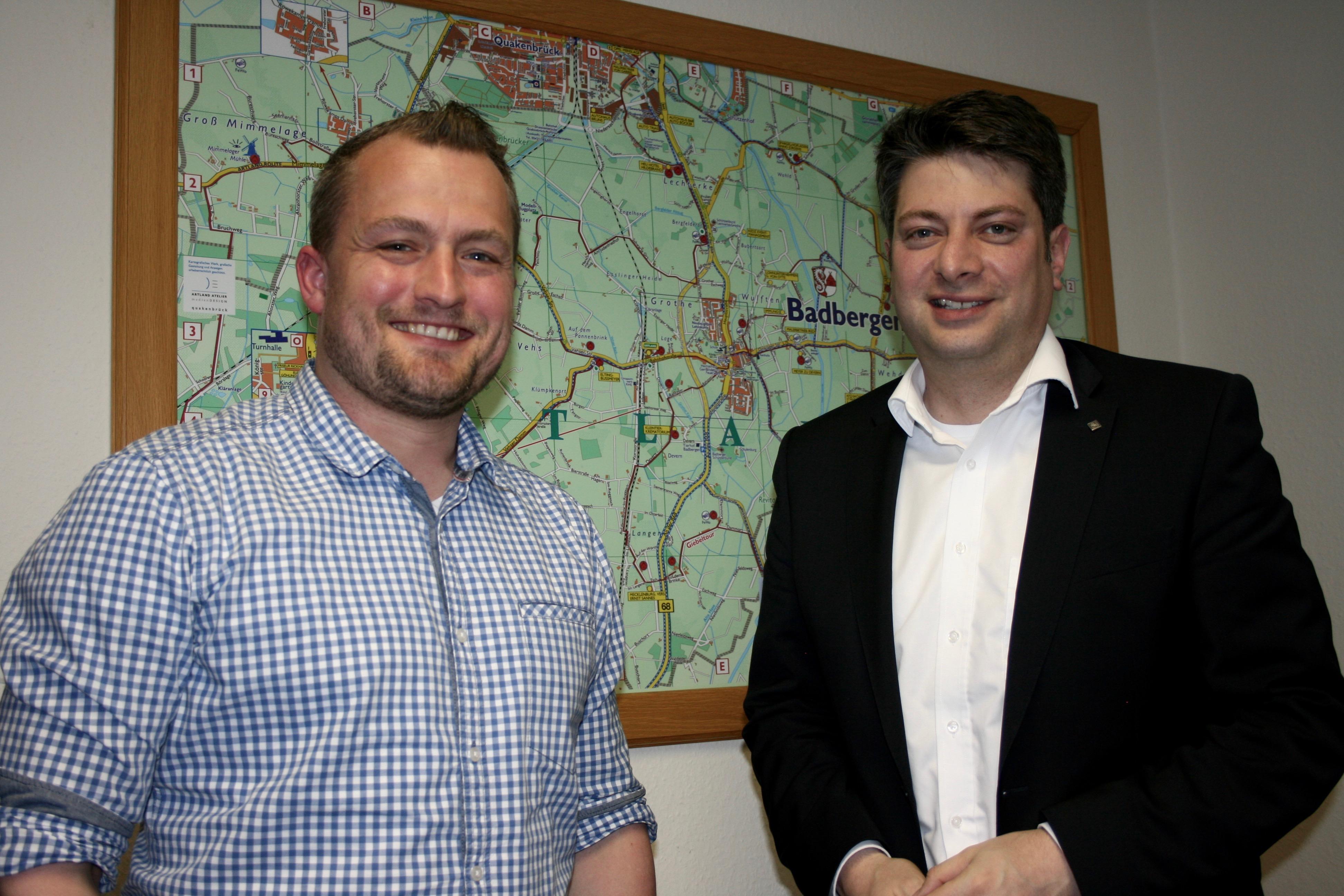 2017 erfolgte mein Antrittsbesuch beim neuen Bürgermeister der Gemeinde Badbergen, Dr. Tobias Dörfler.