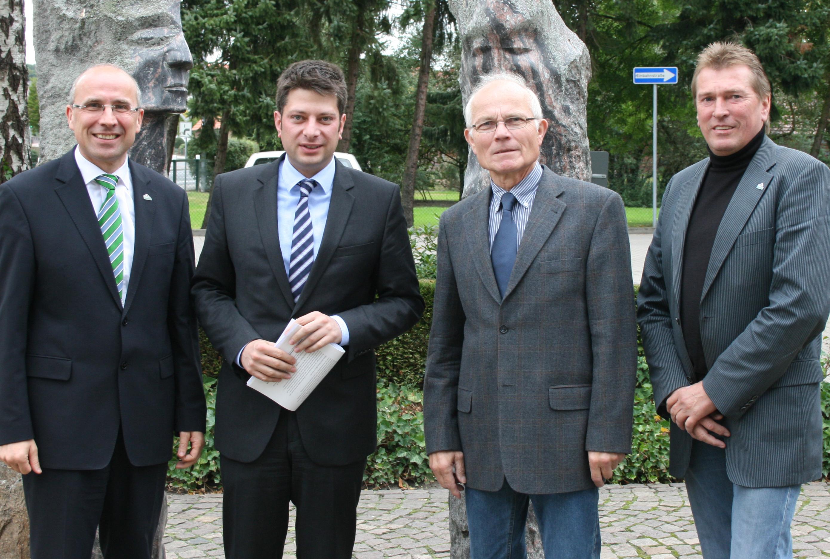 2013 zu Besuch beim Bürgermeister in Damme: Bürgermeister Gerd Muhle, Landtagsabgeordneter Christian Calderone, CDU-Fraktionsvorsitzender Hugo Giese, stellvertretender CDU-Vorsitzender Andreas Herzog!
