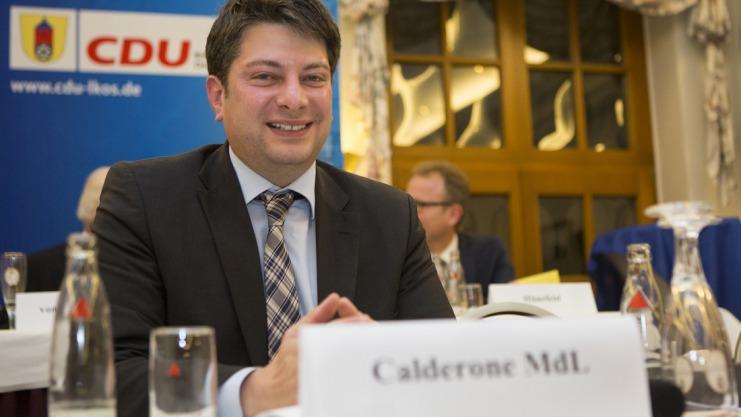 Ein Stein vom Herz fiel Christian Calderone  am Freitagabend nach der Wiederwahl zum Kreisvorsitzenden. Foto: Swaantje Hehmann