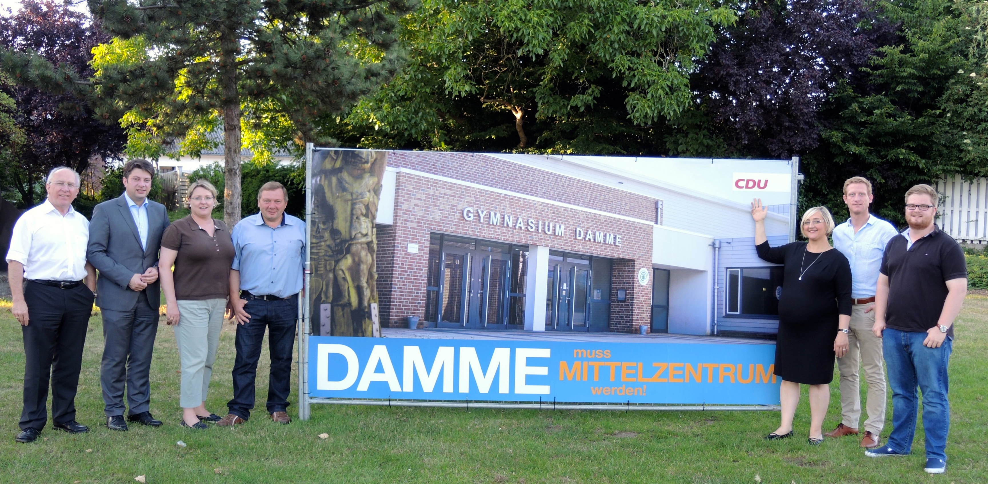 """""""Damme muss Mittelzentrum werden"""" - werben die CDU-Damme und der örtliche Landtagsabgeordnete Christian Calderone für eine Neuformulierung im zweiten Entwurf des LROP."""