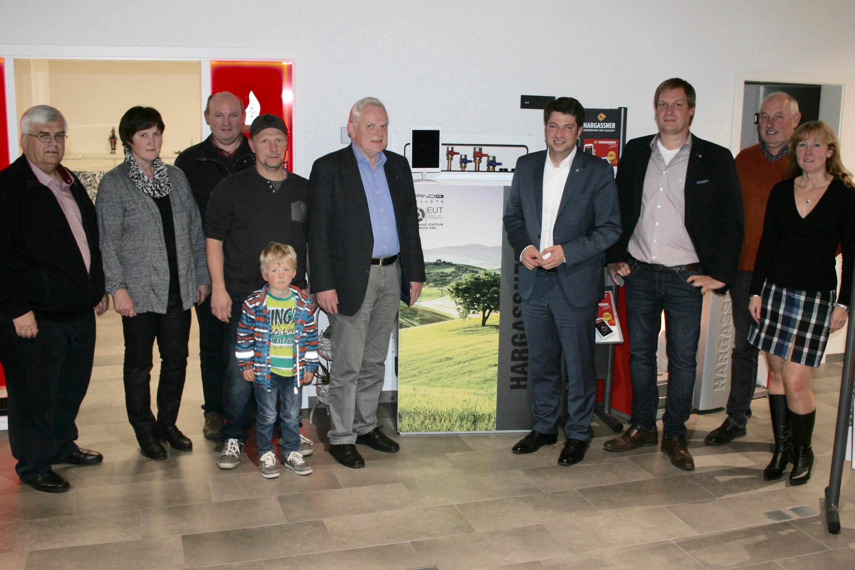 Besuch bei EUT: Vertreter der CDU-Merzen mit Bürgermeister Gregor Schröder  und dem Landtagsabgeordneten Christian Calderone Foto:CDU