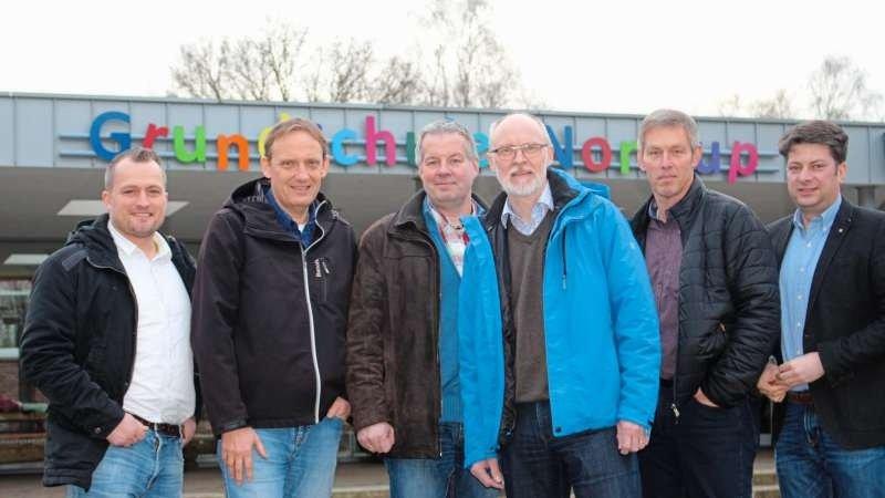 Sahen sich vor Ort um (von links): die CDU-Fraktionsmitglieder Tobias Dörfler, Reiner Hülefeld, Norbert Krull, Dirk Kopmeyer, Bernd Kettmann und Christian Calderone. Foto: CDU Artland