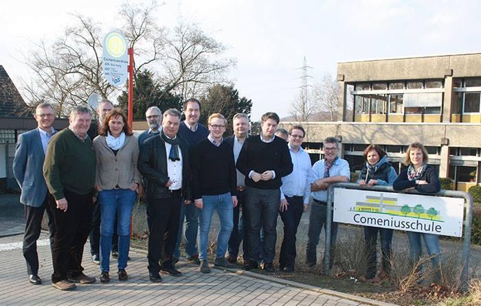 Besuch der CDU-Kreistagsfraktion Osnabrück in der Comenius-Förderschule in Georgsmarienhütte.