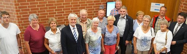 Die Besuchergruppe im Landtag in Hannover.