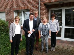 Austausch über Wohnungslosenhilfe: (v. l.) Monika Schnellhammer, Christian Calderone, Ulrich Friedrichs, Maria Drochner und Sonja Korosa.