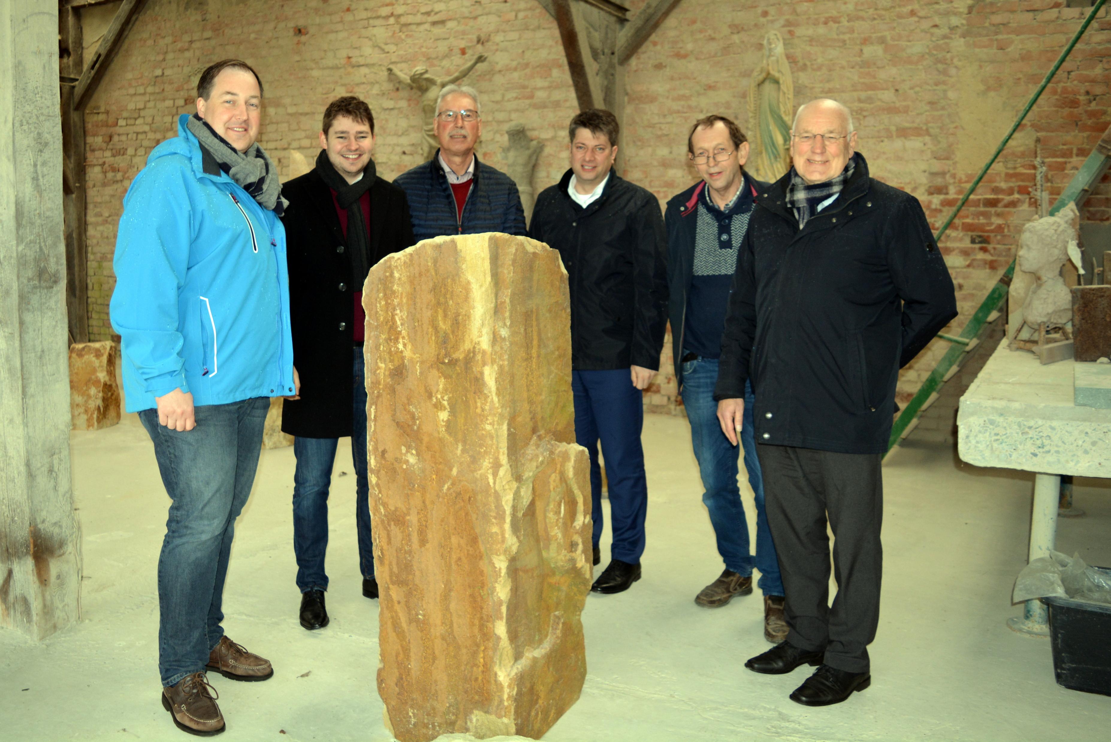 Besuch bei Bildhauer Heinz Stall in Settrup!