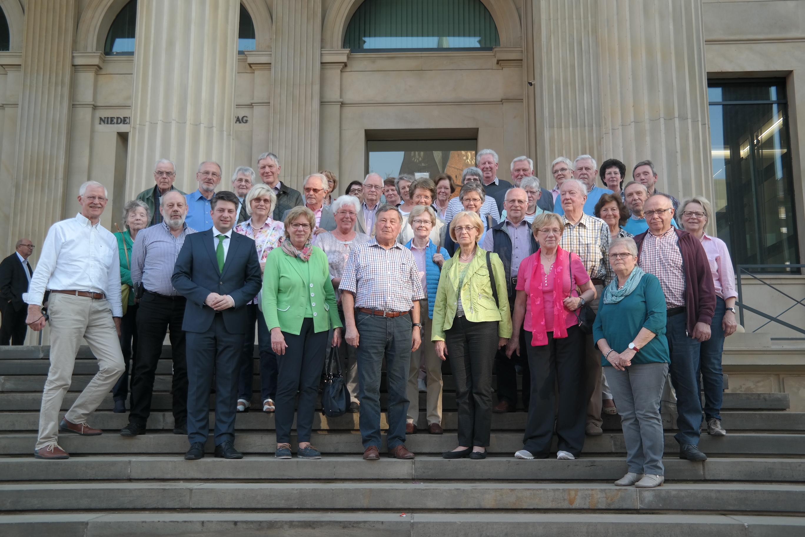 Besuch im Niedersächsischen Landtag der Senioren Union Ankum-Eggermühlen-Kettenkamp im Niedersächsischen Landtag.