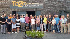 Die Radler blickten hinter die Kulissen der Firma Tozo.